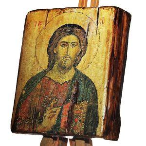 Εικόνα Χριστού σε παλιό ξύλο