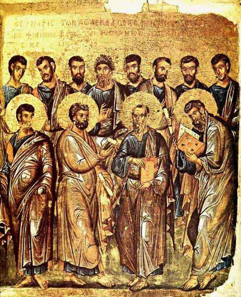Οι δώδεκα Απόστολοι.