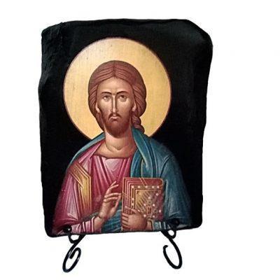 Εικόνα Χριστού Ζωοδότη σε κορμό ελιάς