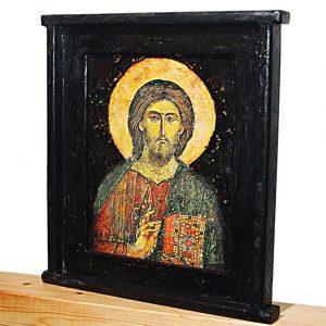 Χειροποίητη ξύλινη εικόνα Χριστού