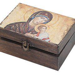 Ξύλινο κουτάκι Παναγίας ΒΑ16