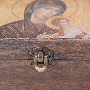 Ξύλινο κουτάκι Παναγίας