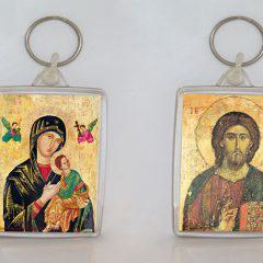 Μπρελόκ Χριστού & Παναγίας.