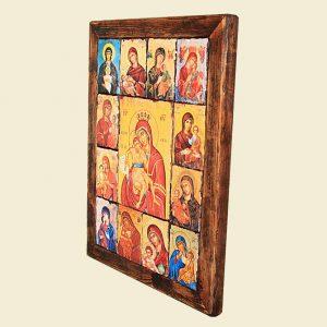 Χειροποίητο δημιούργημα εικόνων Παναγίας Άξιον Εστί συν 12 ακόμα.