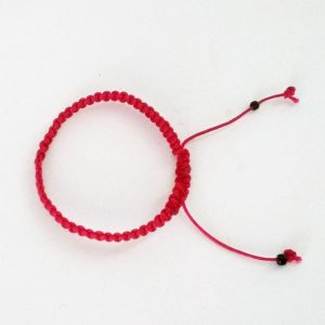 Χειροποίητο πλεκτό βραχιόλι κόκκινο  Bκ-132