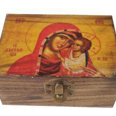 Ξύλινο κουτάκι Παναγίας ΒΑ17