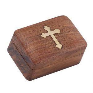 Χειροποίητο κουτάκι με ξύλο και χαλκό 8x 5,5x4cm