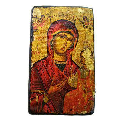 Παναγία Ελεούσα Παλαιωμένη και σε φύλλα χρυσού