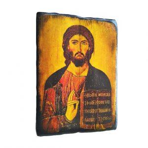 Εικόνα Χριστού Ζωοδότη παλαιωμένη