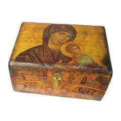 Παλαιωμένο κουτί  Παναγίας του Πάθους